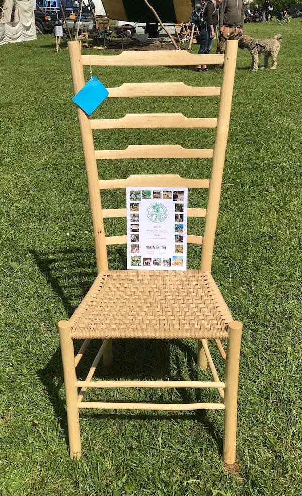 Bodgers Ball 2018 Side Chair Competition Winner Ladderback Chair By Mark Griffin Of Rustic Ash Chairs