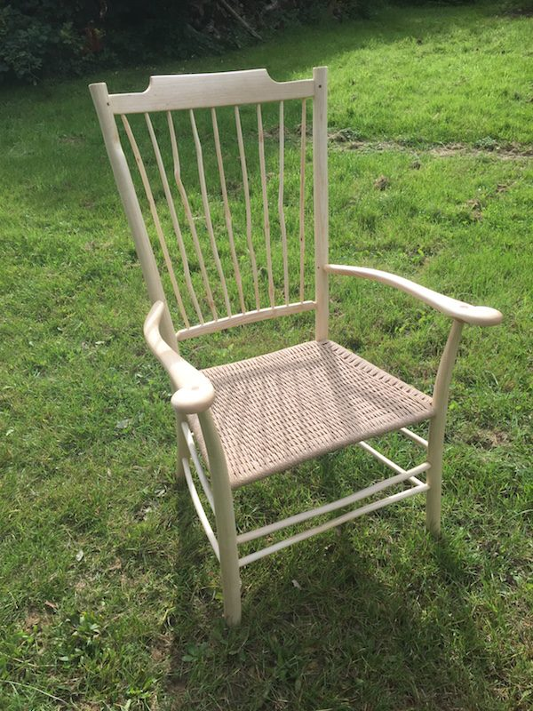 uncle fred armchair, spindle back, rustic ash chairs, green woodworking