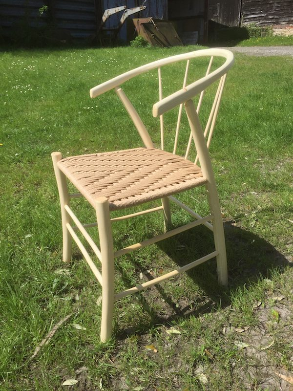 spindleback, swoop, chair, steam bent, green woodworking, rustic ash chairs