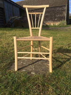 Fanned Tri-Spindle Gentleman's Chair