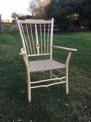 Knotty Spindle & Lath Back 'Uncle Fred' Armchair