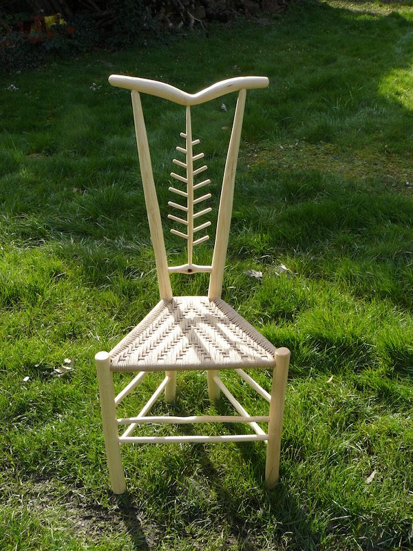 gentleman's chair, leaf, rustic ash chairs