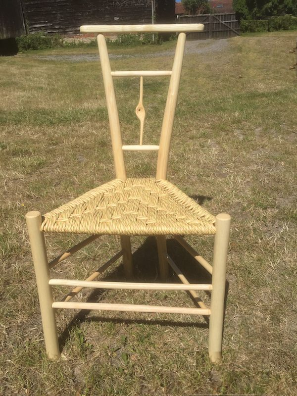 single knotty spindle gentleman's chair, paper rush