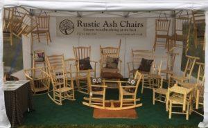 rustic ash chairs setup