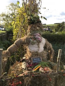 Percy the scarecrow, weald and downland museum, autumn countryside show 2017