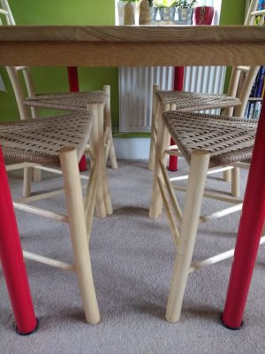 contemporary, commission, danish cord, gentleman's chairs, dining set, ash, green woodworking