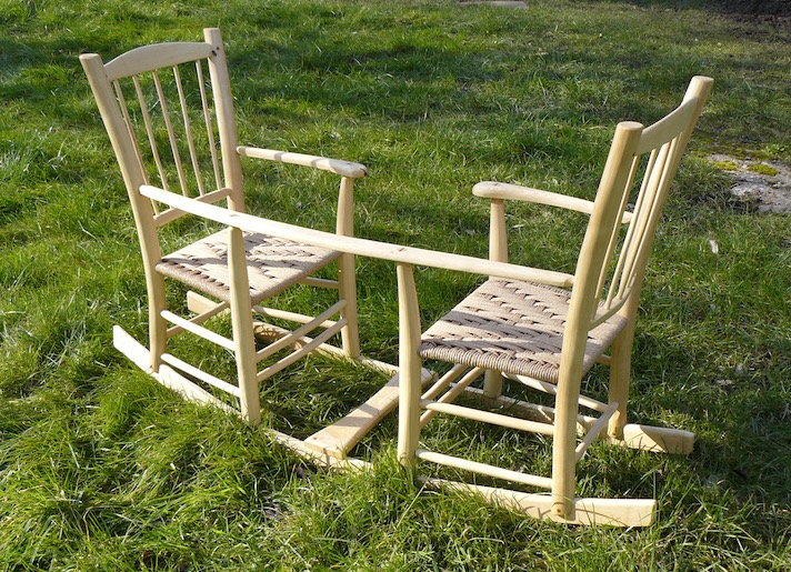 rustic ash chairs, double rocking seesaw, bodgers ball 2016, rustic ash chair, green woodworking, 1st place