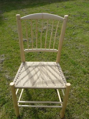 Knotty Spindle Back Side Chairs