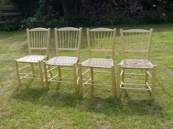 knotty, spindle-back, side chair, dining chair, green woodworking, rustic ash chairs, commission, chairmaking