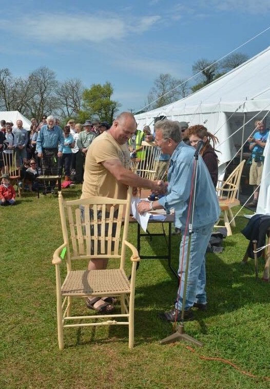 bodgers ball 2016, prize giving, 1st place, picket fence chair, rustic ash chairs