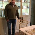 Chairmaker Mark Griffin With His Green Woodworking Ash Beehive Chair At Standen House