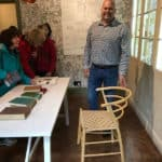Mark Griffin With His Beehive Chair At Standen House