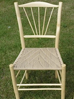 Fanned Spindle Back Side Chair