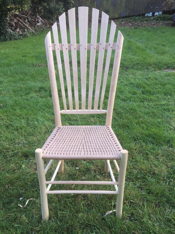 high backed shaker style side chair from rustic ash chairs
