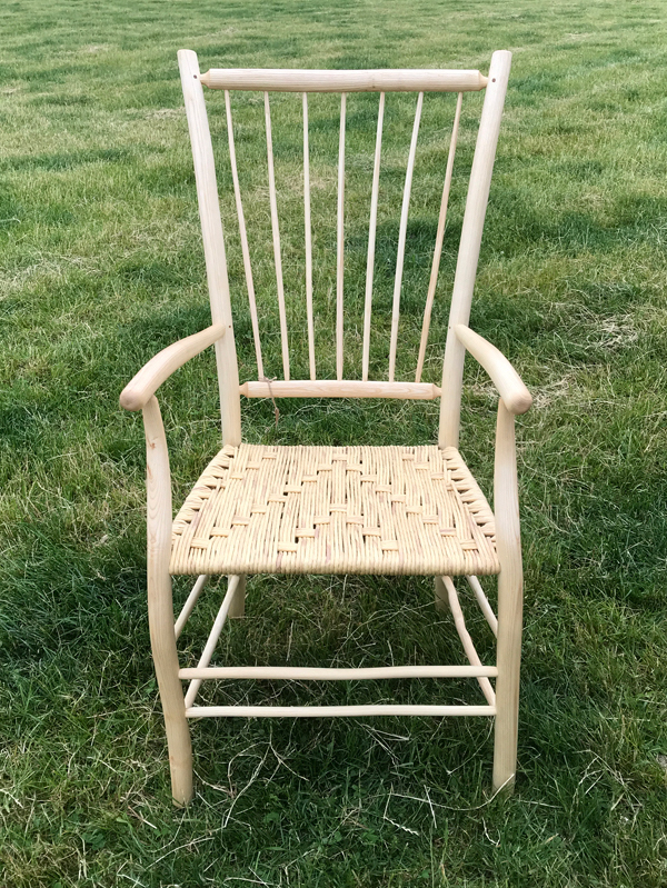 7 Spindle back Uncle Fred chair with rounded chair components