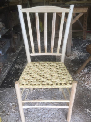 High Lath Back Side Chair