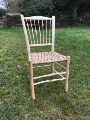 Knotty Spindle Back Side Chair