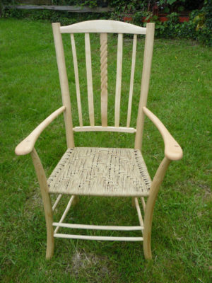 Rope Lath Back 'Uncle Fred' Chair