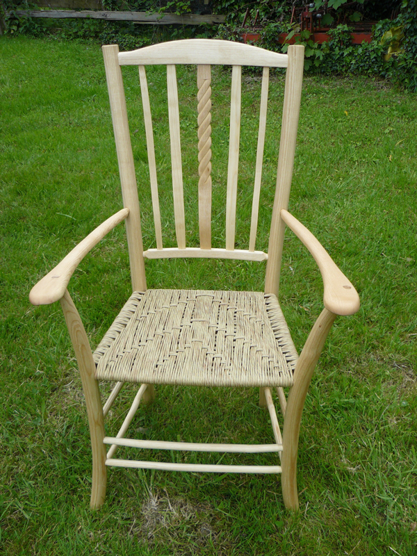 5 lath Uncle Fred chair with hand carved centre lath