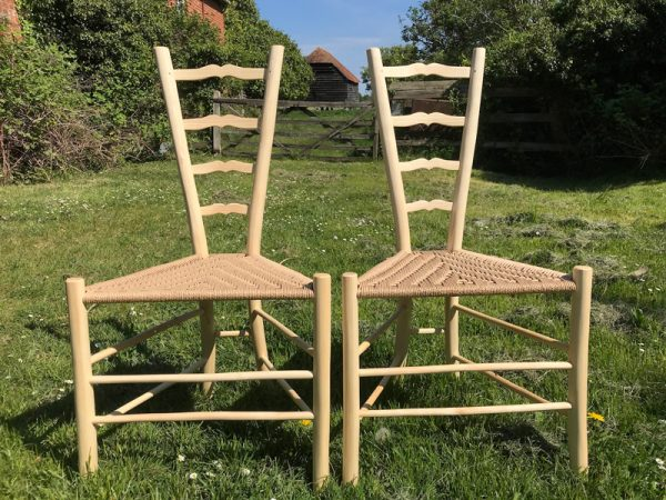 A Sweetheart Ladderback Gentleman's Dining Chair by Rustic Ash Chairs