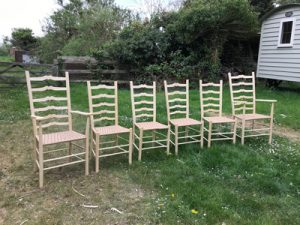 Sweetheart Ladderback Chairs Commission
