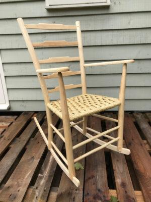 5 Ladderback Rocking Chair