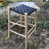 sloping perching stool with black danish cord seat