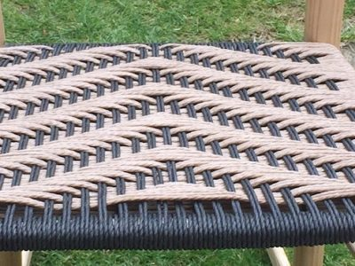 seat weaving, twill, pattern, black, natural, chairmaking, danish cord, rustic ash chairs