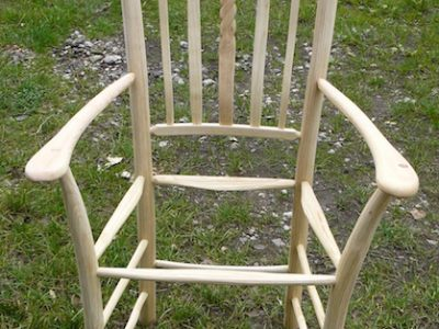 chairmaking, frame, rope design, lath back, laths, green woodworking