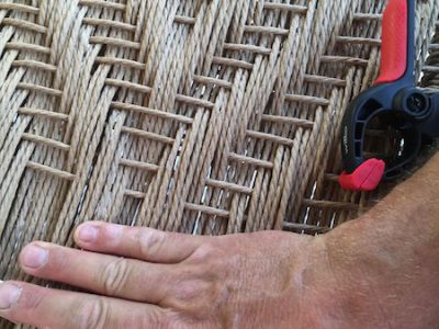 seat weaving, danish cord, traditional, chairmaking, rustic ash chairs, green woodworking